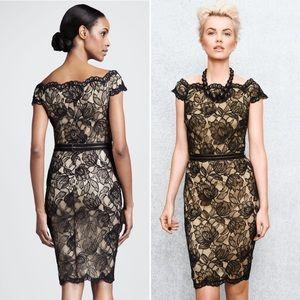 Tadashi Shoji Lace Black Off Shoulder Dress